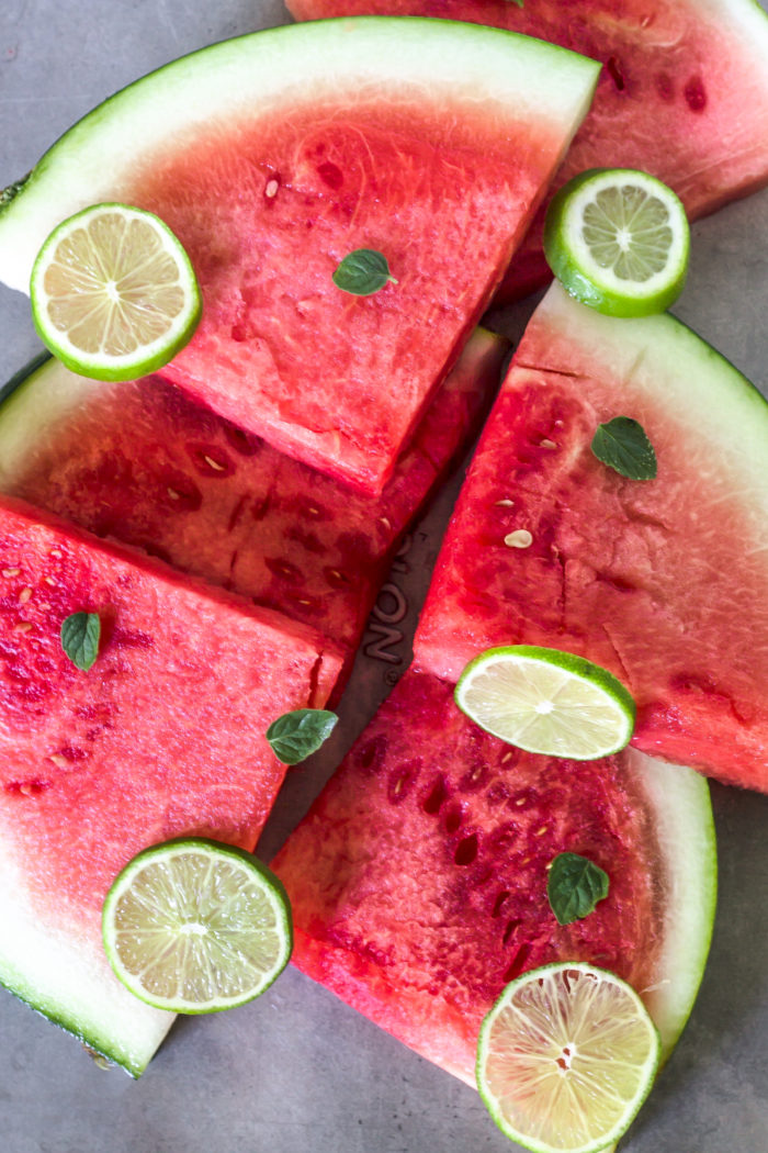 watermelon lime mint popsicles