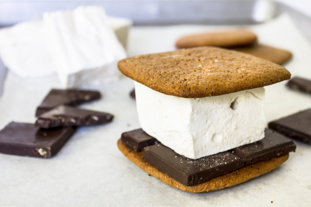 These delicious homemade honey graham cracker and whiskey marshmallow s'mores are perfect for your 4th of July cookout!