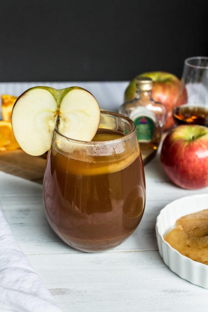 spiked hot apple cider