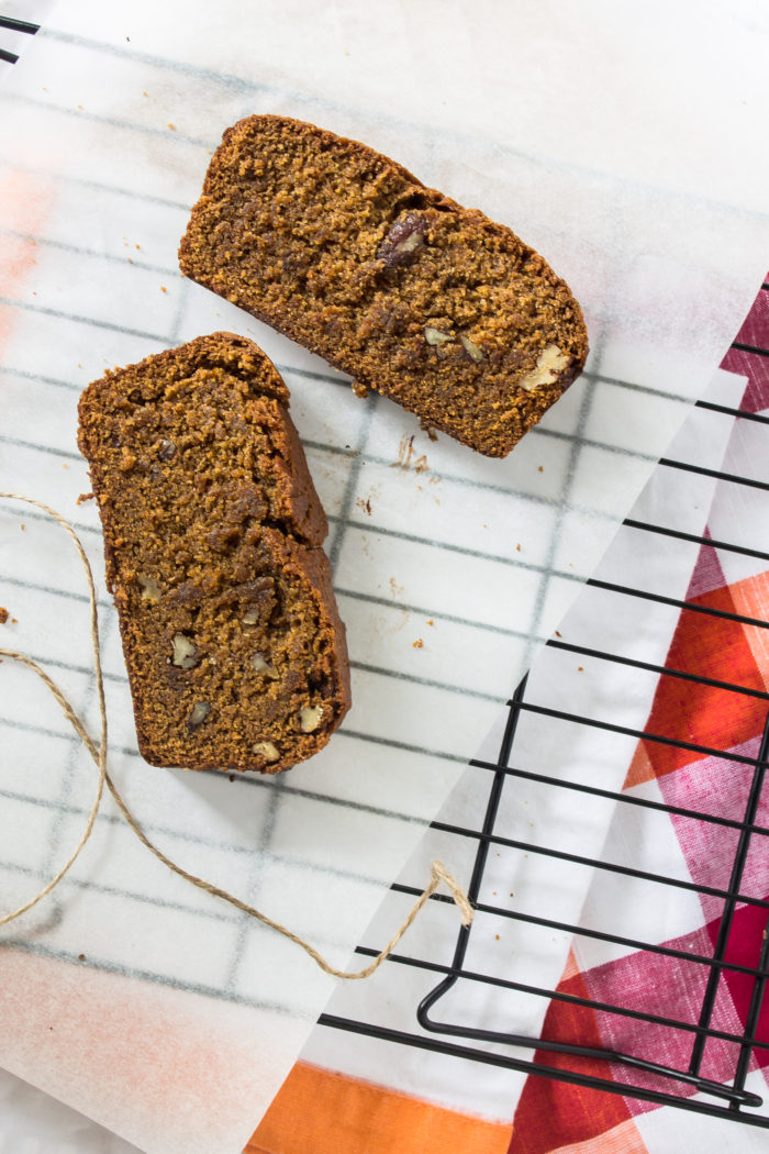 secretly vegan pumpkin bread