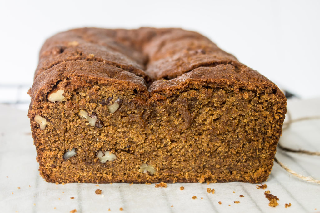 The perfect fall breakfast and snack, this pumpkin bread is filled with moisture and spices.  You'll never even know it is vegan :)  passthecookies.com