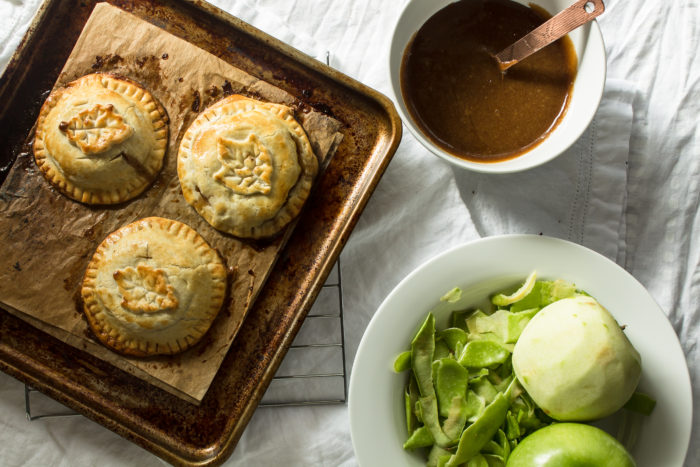 apple hand pies with bourbon sauce