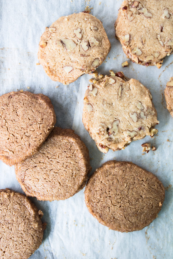 Brown butter pecan sandies and cinnamon icebox cookies are simple to throw together and keep in your freezer for friends who pop by unannounced, or for your late-night cookie cravings.