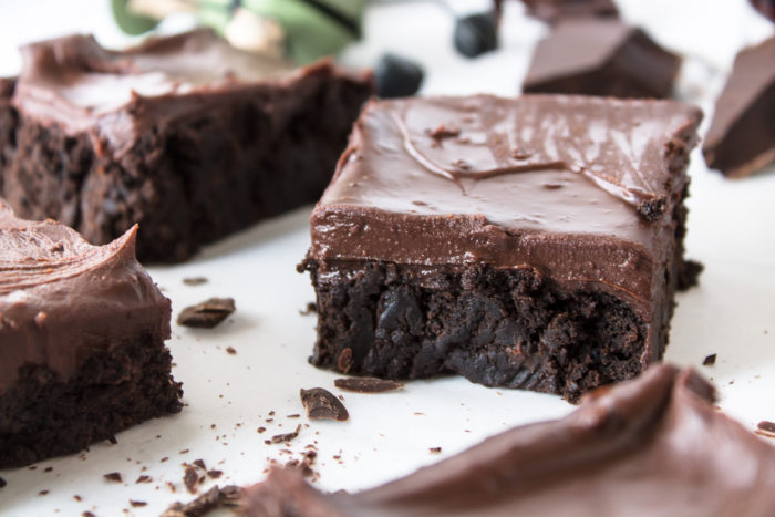 guinness brownies with irish cream chocolate ganache frosting