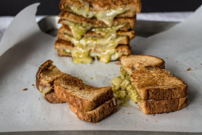 pistachio pesto grilled cheese