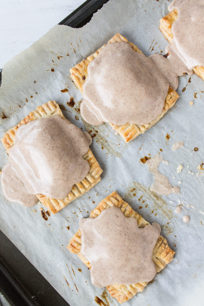 pumpkin pop tarts with brown butter maple frosting