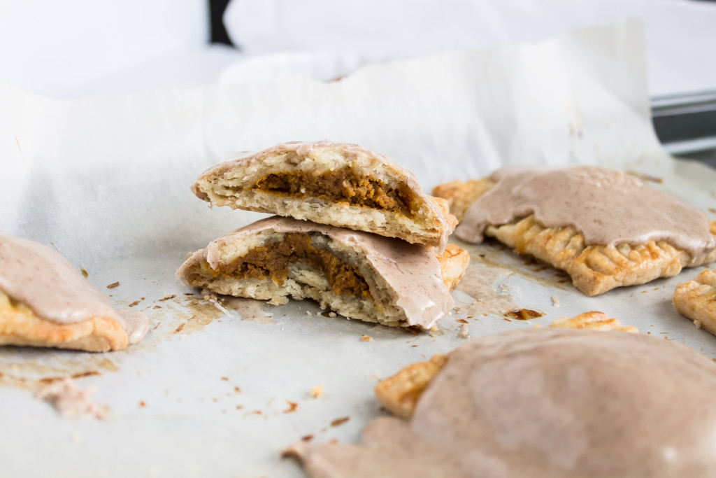 Pumpkin Pop Tarts with Brown Butter Maple Frosting | passthecookies.com