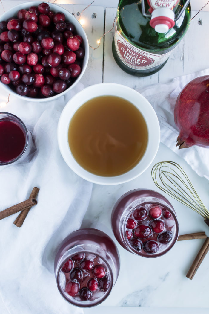 spiced cranberry cider punch