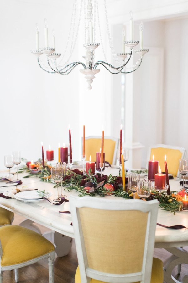 Thanksgiving Table Setting Ideas - Traditional Reds