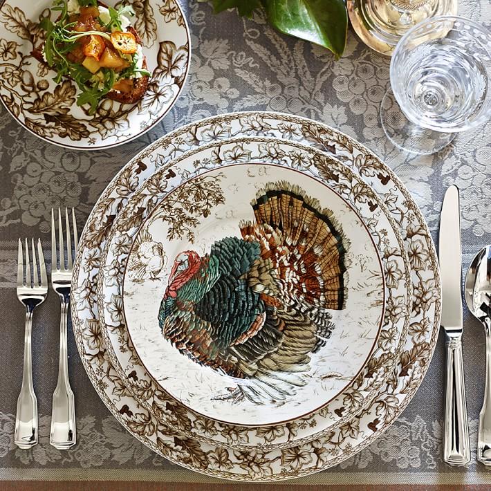 Thanksgiving Table Setting Ideas - Turkey Transferware