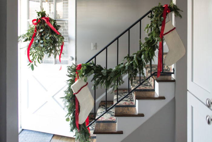 christmas home tour and a baby shower