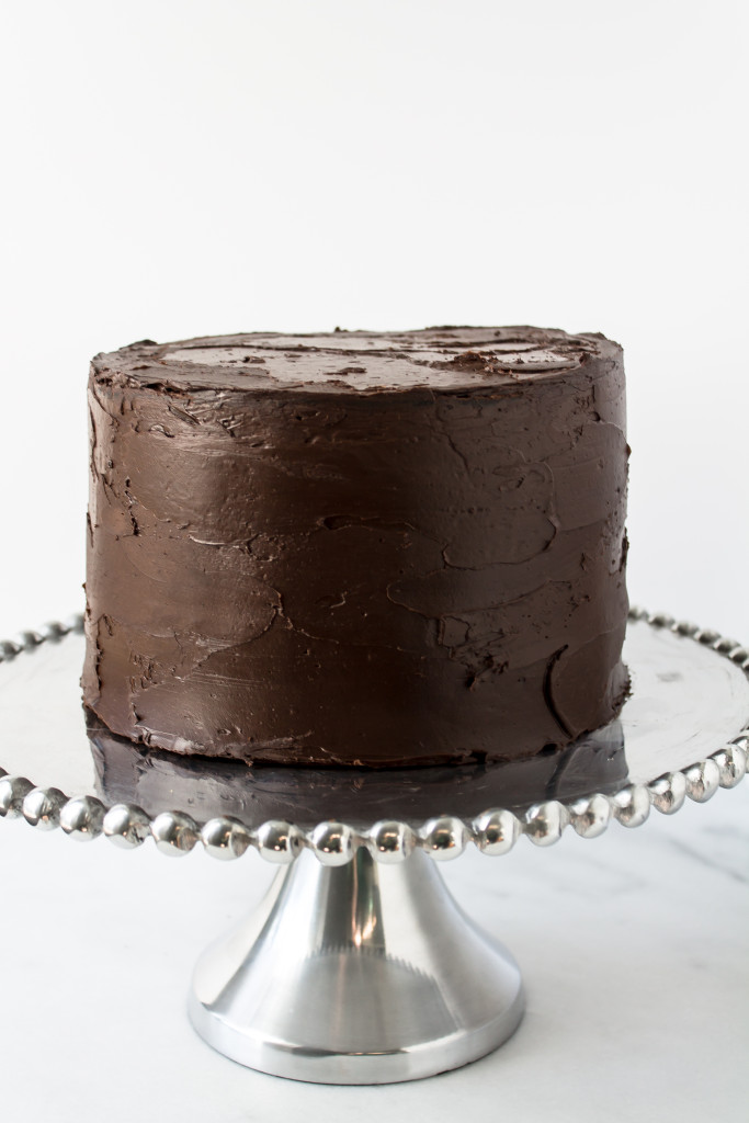 Chocolate Cake with Whiskey Caramel Frosting and Dark Chocolate Ganache aka one of the best cakes I have ever made | www.passthecookies.com