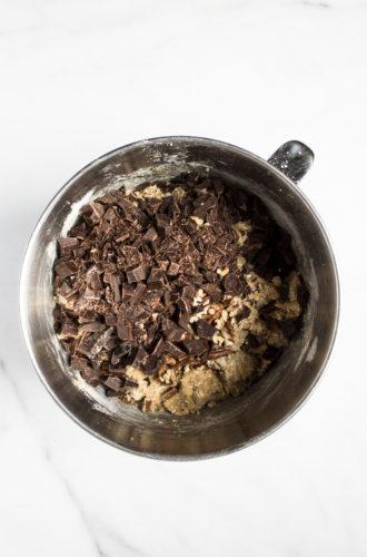 dark chocolate pecan oatmeal cookies