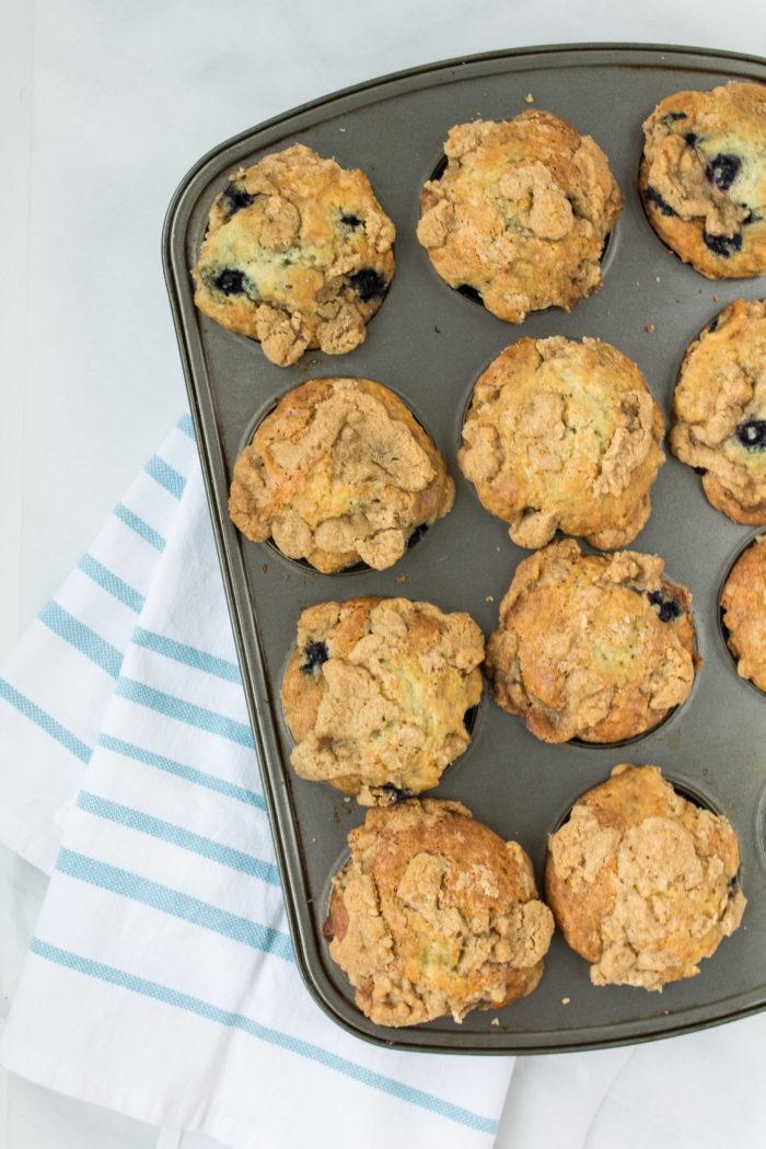blueberry lavender streusel muffins