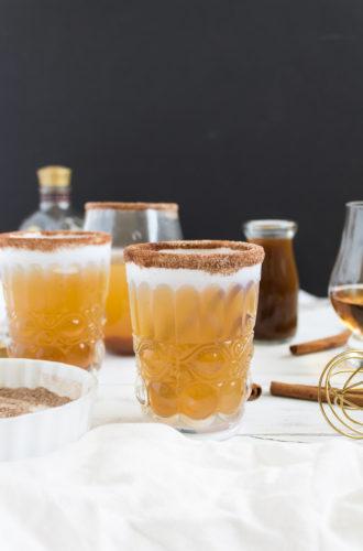 pumpkin ginger bourbon punch