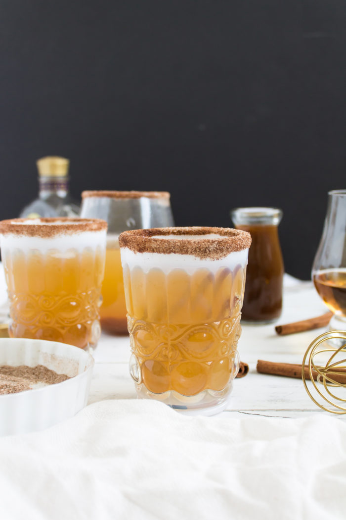 pumpkin ginger bourbon punch