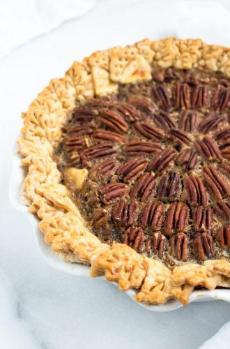 chocolate chess bourbon pecan pie
