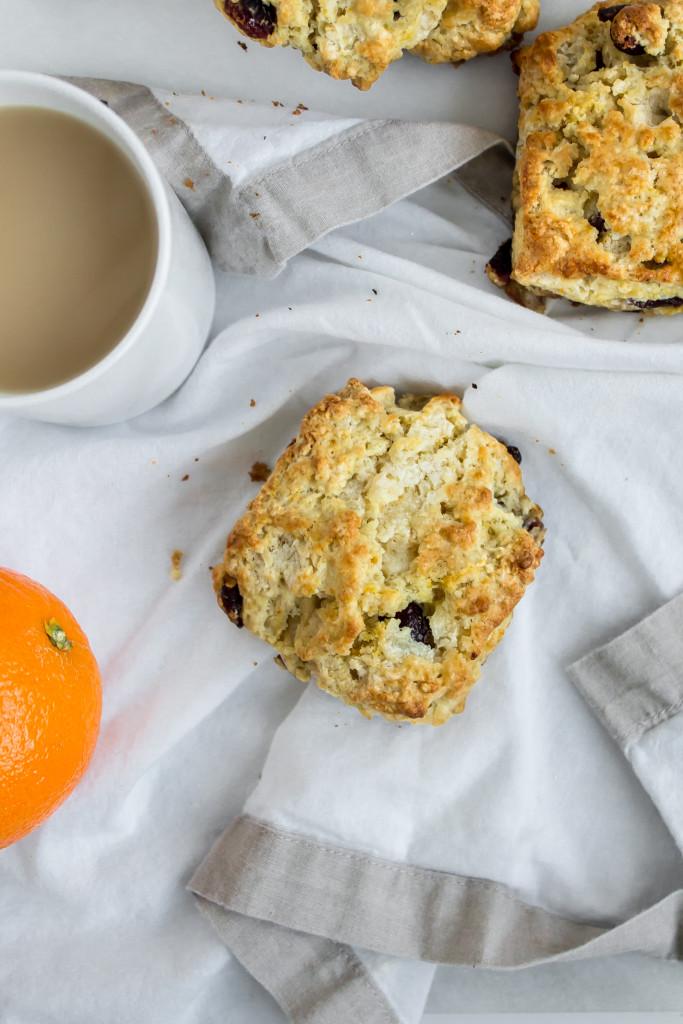 Orange Cranberry Scones   Pass the Cookies   www.passthecookies.com