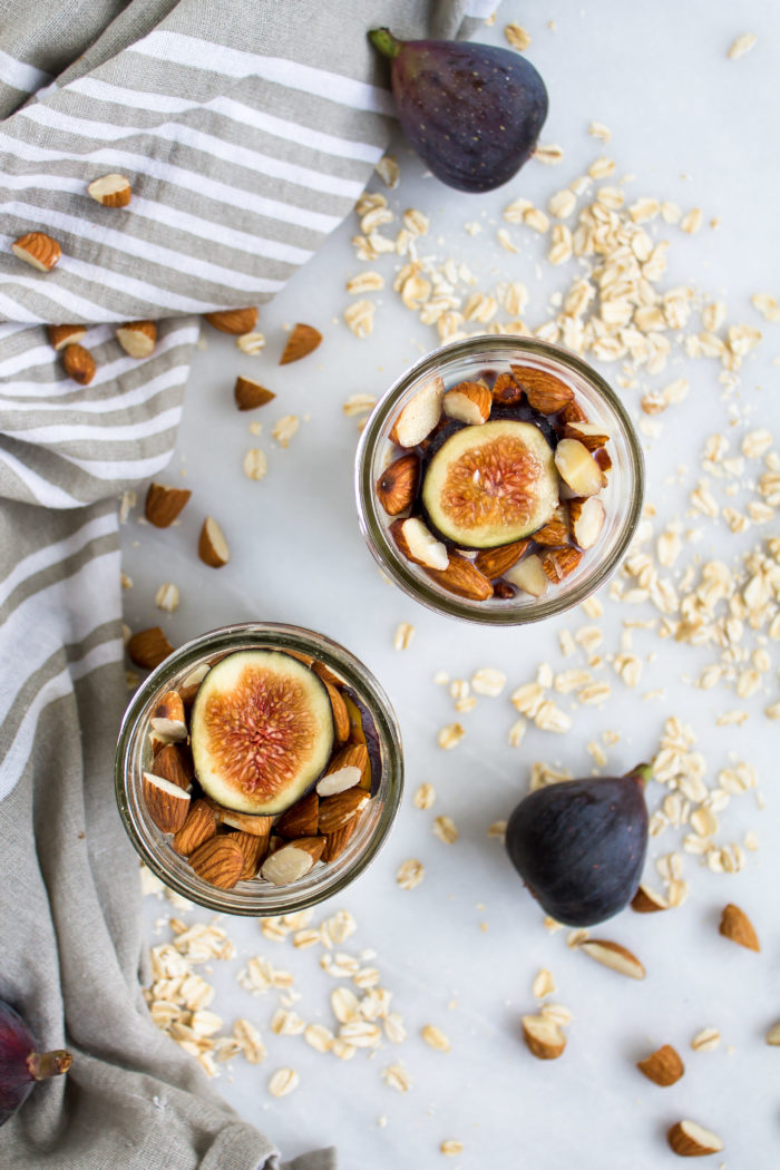 fig and almond overnight oats