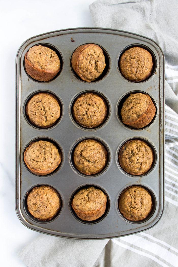 healthier banana muffins