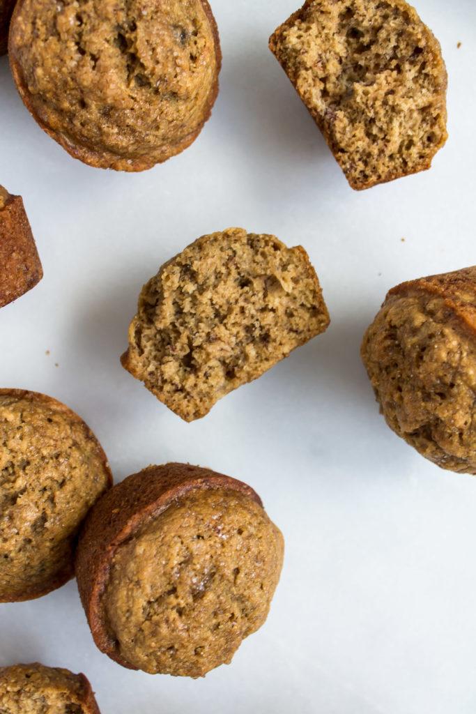 Healthier Banana Muffins | Pass the Cookies | www.passthecookies.com