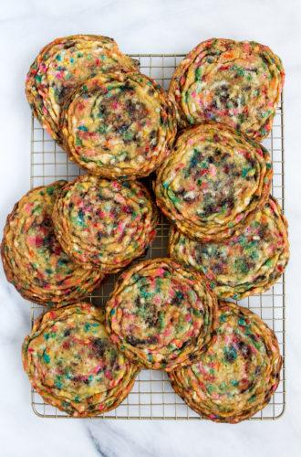 funfetti pan-banging cookies