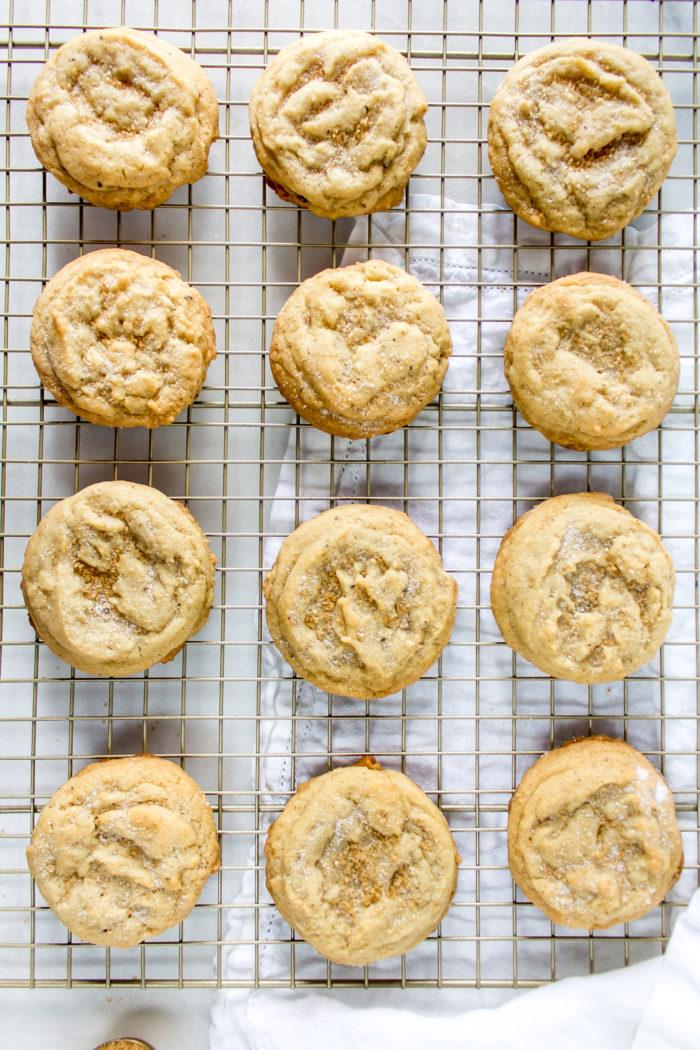 soft brown butter sugar cookies
