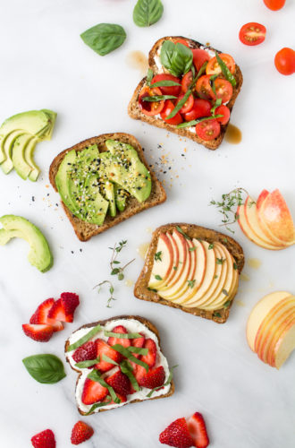toast toppings, four ways