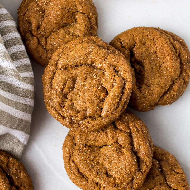 Chewy ginger cookies are the perfect treat any time of the year, but especially shine when the weather gets colder. These are perfectly soft and chewy in the center - the best kind of cookie. | Pass the Cookies | www.passthecookies.com