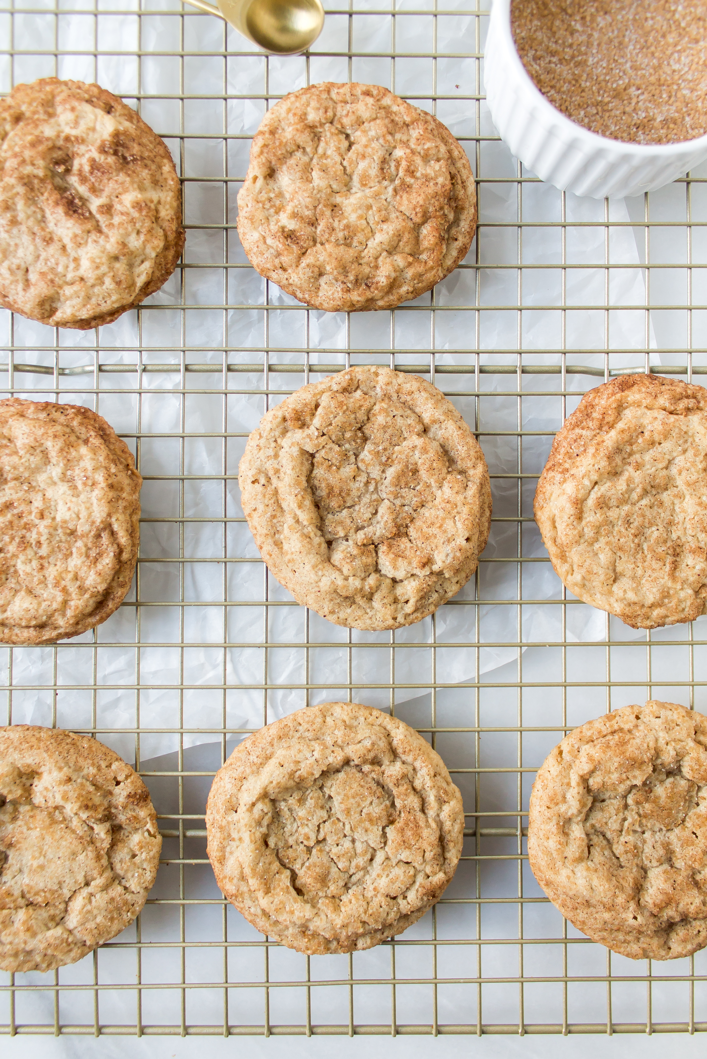 Maple chai snickerdoodles combine two delicious, warm tastes to make the perfect cozy fall cookie. | Pass the Cookies | www.passthecookies.com