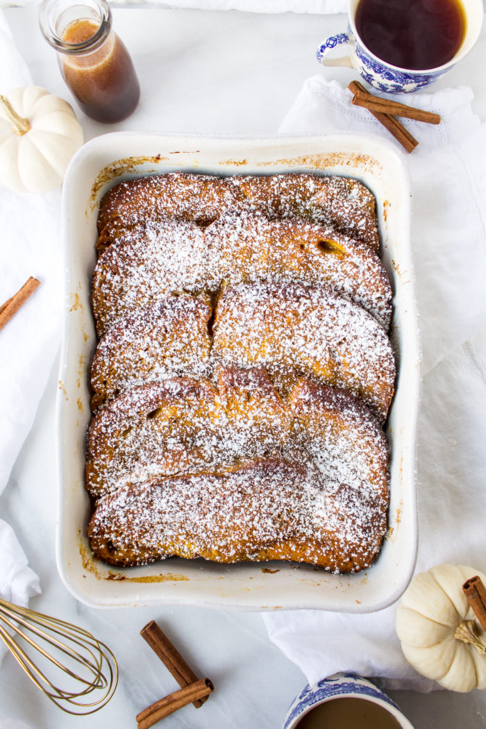 overnight pumpkin french toast casserole